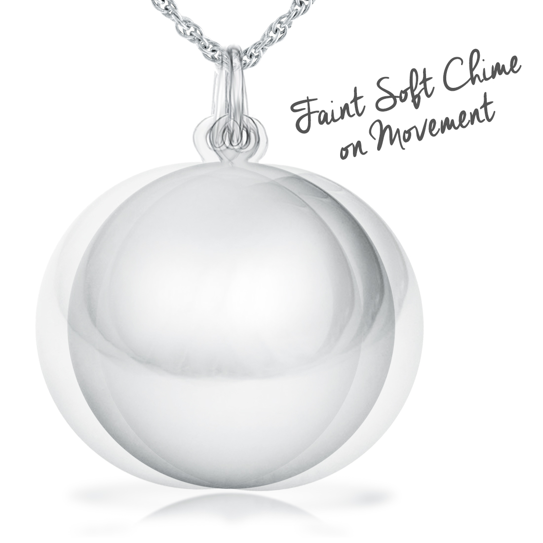 1da489bcb Chime Ball Necklace, Pregnant Mums 925 Sterling Silver